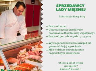 Sprzedawca lady mięsnej