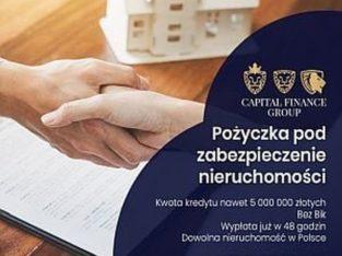 Prywatna pożyczka dla firm pod zastaw nieruchomosci